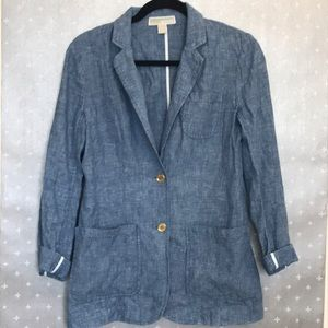 Michael Kors linen/cotton blend blazer SM